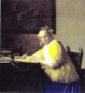 Vermeer Pani piszaca list