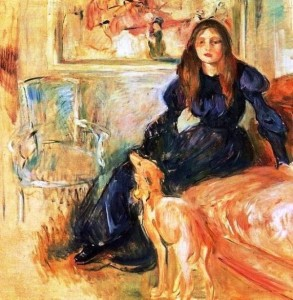 6 Berthe Morisot (1841-1895) Julie Manet and her Greyhound Laertes 1893